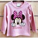 Disney Minnie Mouse Babyshirt Sweatshirt rosa Minnie Maus...