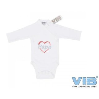 VIB® Baby Body Wickelbody Langarm Papa Erstlingsausstattung