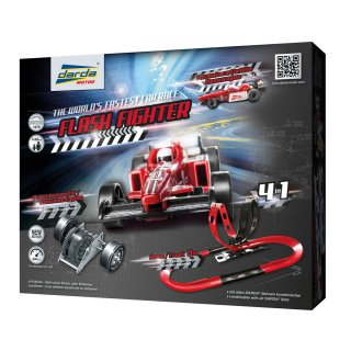 Darda Motor Rennbahn Flash Fighter mit roten Formula...