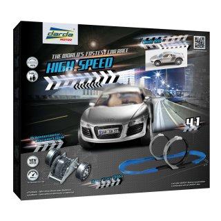 Darda Motor Rennbahn High Speed mit einem Audi R8 Auto